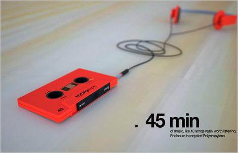 カセットテープ型MP3プレイヤー ...